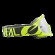B10 Twoface zárt szemüveg ezüst tükrös lencsével neon sárga pánttal