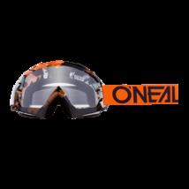 B10 Pixel zárt szemüveg víztiszta lencsével narancs-fekete