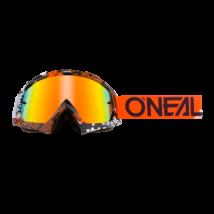 B10 Pixel zárt szemüveg tükrös lencsével fekete/narancs