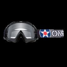 B10 Warhawk krossz szemüveg víztiszta lencsével fekete