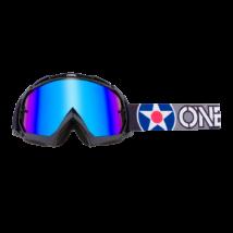 B10 2020 Warhawk krossz szemüveg tükrös lencsével fekete