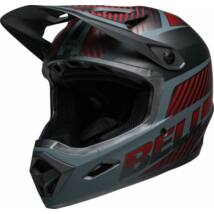 Bell Transfer fullface kerékpáros sisak matt szürke-piros -RideShop.hu