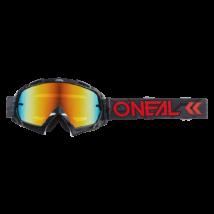 Oneal B10 Camo V22 fekete-piros zárt szemüveg tükrös lencsével - RideShop.hu