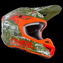 Oneal 5series HR motocross sisak narancs/zöld - RideShop.hu webshop