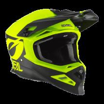 8series 2T motocross sisak neon sárga