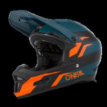 Fury Stage kerékpáros full face sisak kék-narancs