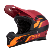 ONEAL Fury Stage kerékpáros zárt sisak piros-narancs - RideShop.hu