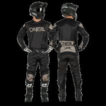 Ridewear krossz szett (mez+nadrág) fekete-szürke