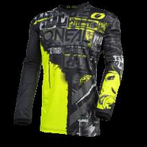 Element Ride hosszú ujjas mez fekete-neon sárga
