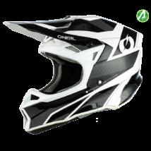 10series Compact motokrossz sisak fekete-fehér