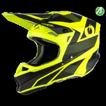 10series Compact motokrossz sisak fekete-neon sárga