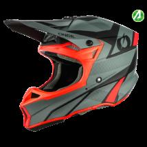 10series Compact motokrossz sisak szürke-piros