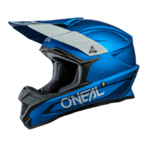 1Series Solid motocross sisak matt kék