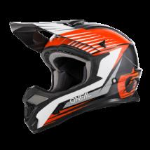 1Series Stream motocross sisak fekete-narancs
