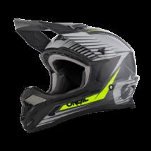 Oneal 1Series Stream motocross sisak szürke-neon sárga - RideShop.hu