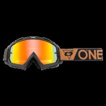 B10 Speedmetal zárt szemüveg tükrös lencsével barna