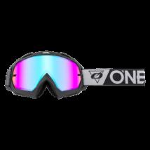 B10 Speedmetal zárt szemüveg tükrös lencsével szürke-fekete
