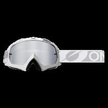 B10 Twoface zárt szemüveg ezüst tükrös lencsével fehér-szürke pánttal