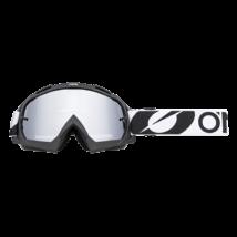Oneal B10 Twoface zárt szemüveg ezüst türkös lencsével fekete-fehér