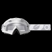 B10 Twoface zárt szemüveg víztiszta lencsével fehér-szürke pánttal
