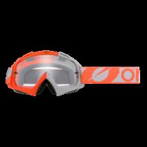 B10 Twoface zárt szemüveg víztiszta lencsével szürke-narancs