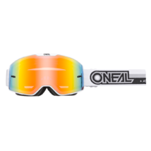 B20 Proxy zárt szemüveg tükrös lencsével fehér-fekete