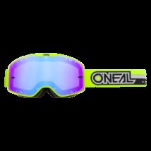 B20 Proxy zárt szemüveg kék tükrös lencsével neon sárga pánttal