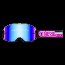 B20 Proxy zárt szemüveg kék tükrös lencsével pink