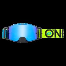 B30 Bold zárt szemüveg tükrös lencsével kék-neon sárga