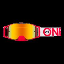 B30 Bold zárt szemüveg tükrös lencsével piros-fehér