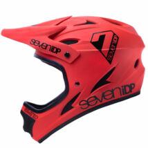 M1 kerékpáros fullface sisak matt piros