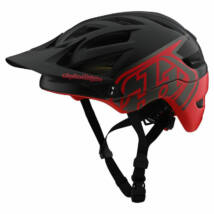 Troy Lee Designs A1 MIPS kerékpáros sisak fekete-piros RideShop.hu