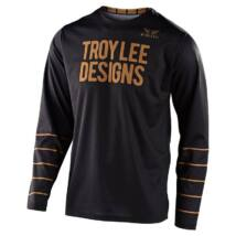 Troy Lee Design GP Pinstripe hosszú ujjas mez fekete-arany