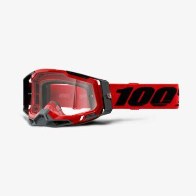 Ride 100% Racecraft 2 Red zárt szemüveg víztiszta lencsével - RideShop.hu