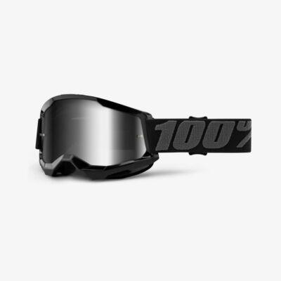 Ride 100% Strata 2 Black zárt szemüveg tükrös lencsével - RideShop.hu