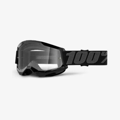 Ride 100% Strata 2 Black zárt szemüveg víztiszta lencsével RideShop.hu
