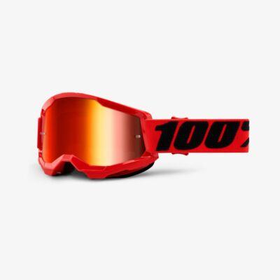Ride 100% Strata 2 Red zárt szemüveg tükrös lencsével - RideShop.hu
