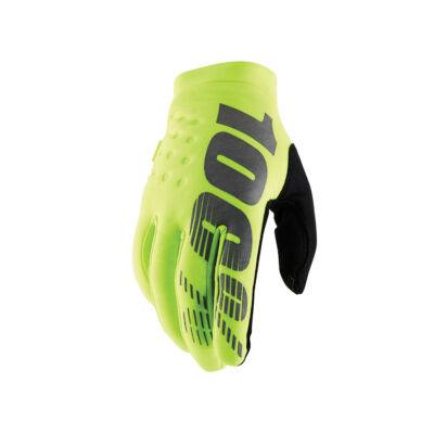 Ride 100% Brisker téli kesztyű neon sárga - RideShop.hu
