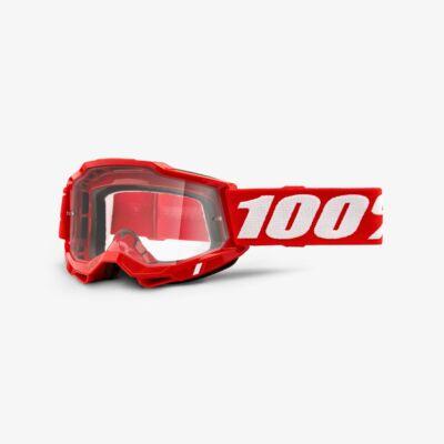 Ride 100% Accuri 2 Neon Red zárt szemüveg víztiszta lencsével - RideShop.hu