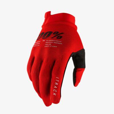 Ride 100% iTrack kesztyű piros - RideShop.hu