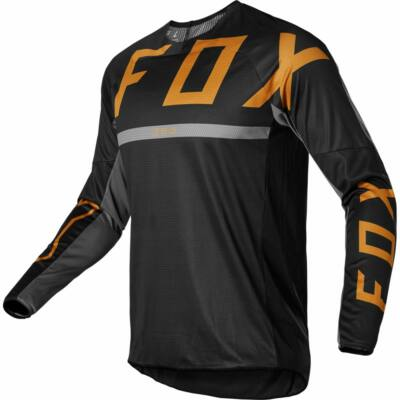 FOX 360 Merz hosszú ujjas mez fekete-arany - RideShop.hu
