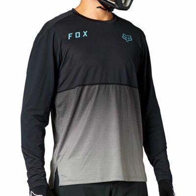 FOX Flexair hosszú ujjas mez fekete-szürke - RideShop.hu