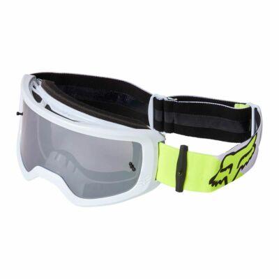 Fox Main Skew zárt szemüveg fehér-fluo sárga tükrös lencsével - RideShop.hu