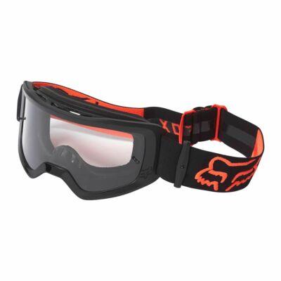 Fox Main Stray zárt szemüveg fekete-narancs víztiszta lencsével - RideShop.hu