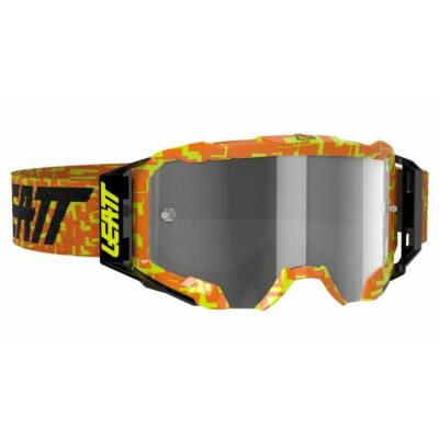 Leatt Velocity 5.5 narancs zárt szemüveg golyóálló tükrös lencsével