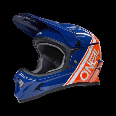 ONeal Sonus Split kerékpáros fullface sisak kék-narancs - RideShop.hu