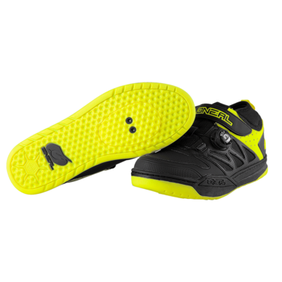 Oneal Session SPD kerékpáros cipő fekete-neon sárga - RideShop.hu