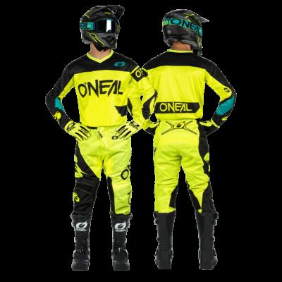 ONEAL Element Racewear 2021 krossz szett (nadrág+mez) neon sárga