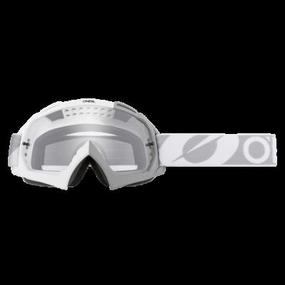 Twoface zárt szemüveg víztiszta lencsével fehér-szürke pánttal