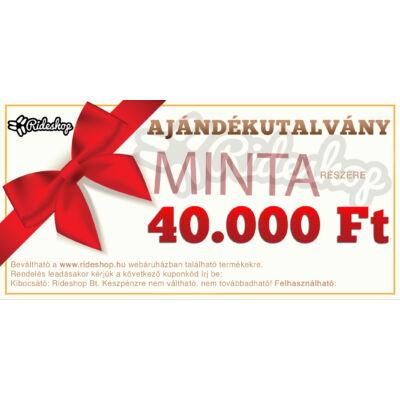 RideShop.hu Ajándékutalvány 40.000 Ft értékben